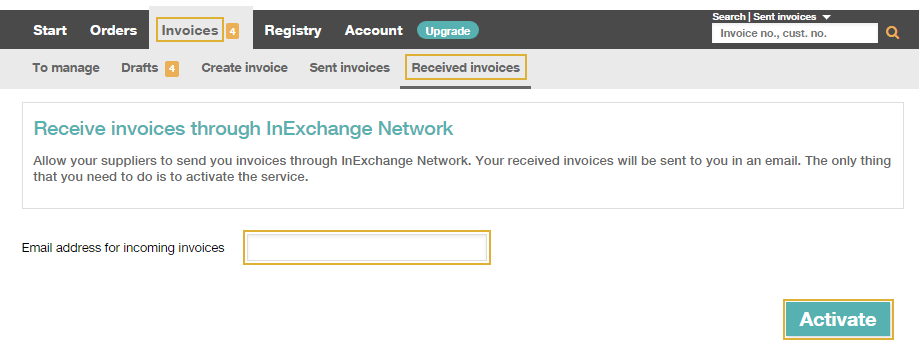 How Do I Become An Invoice Receiver In InExchange Network - How to do an invoice
