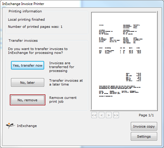 I Happened To Transfer A Document That Is Not An Invoice What Do I - Invoice printer